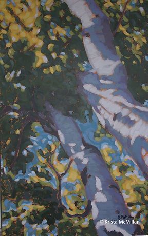 tree-painting-Bruce-Peninsula-white-birc