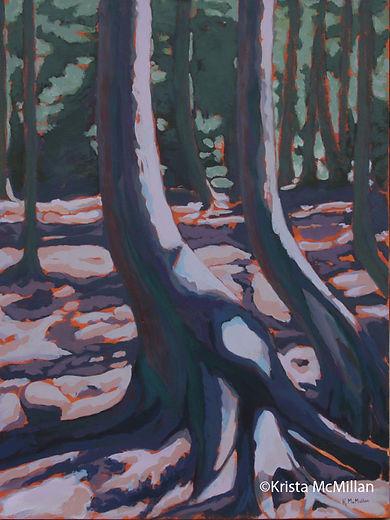 tree-painting-Bruce-peninsula-national -