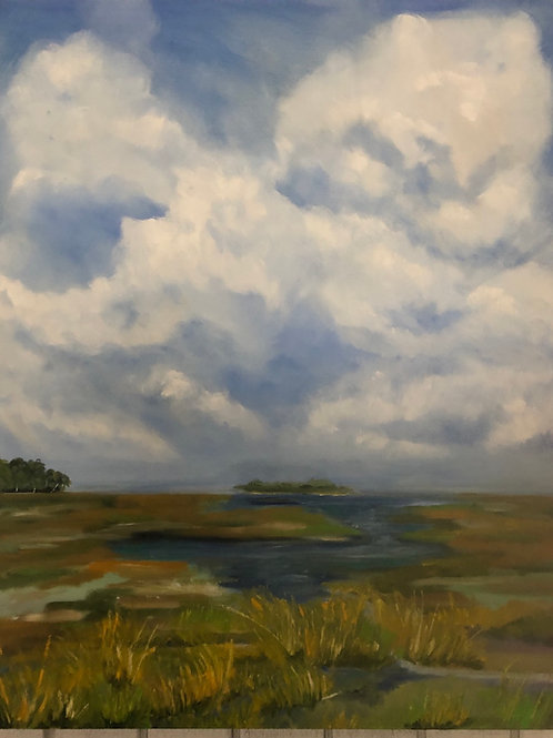 Marsh vibes  24x30 deep cradle canvas