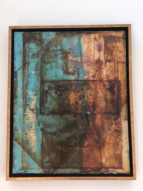 "Rust Expressions I 17""x21"" framed"