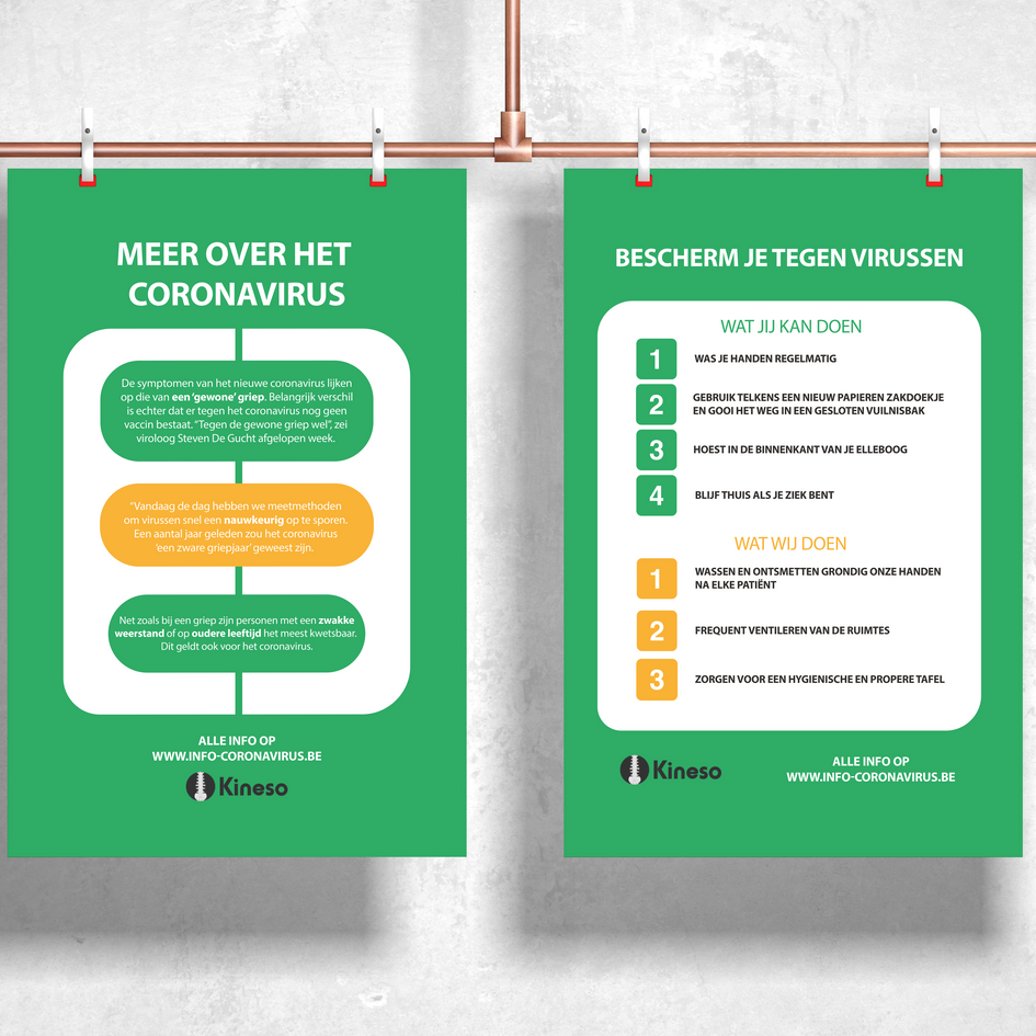 Kineso - prevention posters