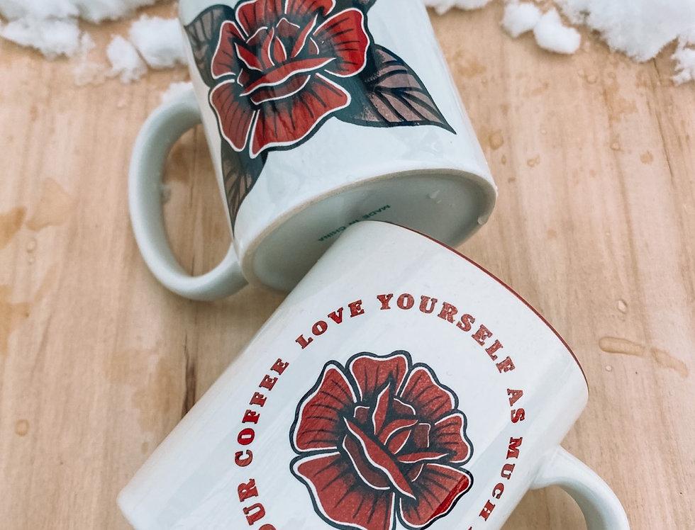 Red Rose Mugs