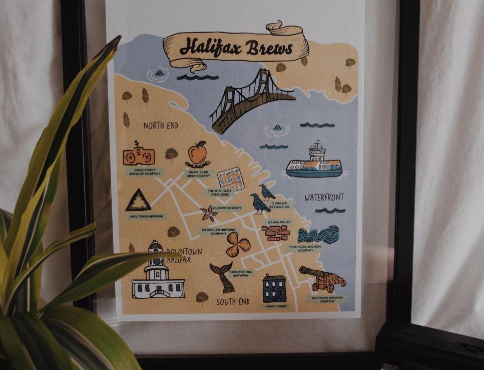 Halifax Brews Print