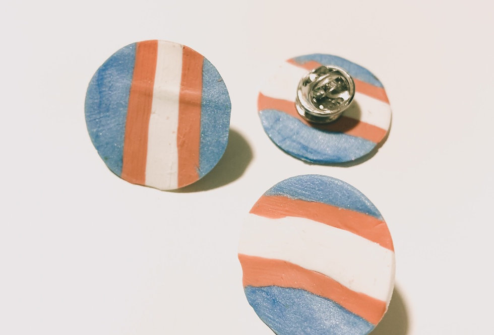 Transgender flag pin