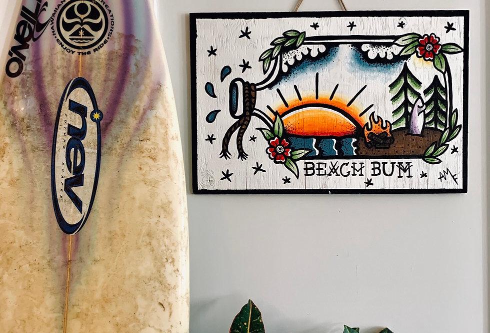 Beach Bum Wooden Sign