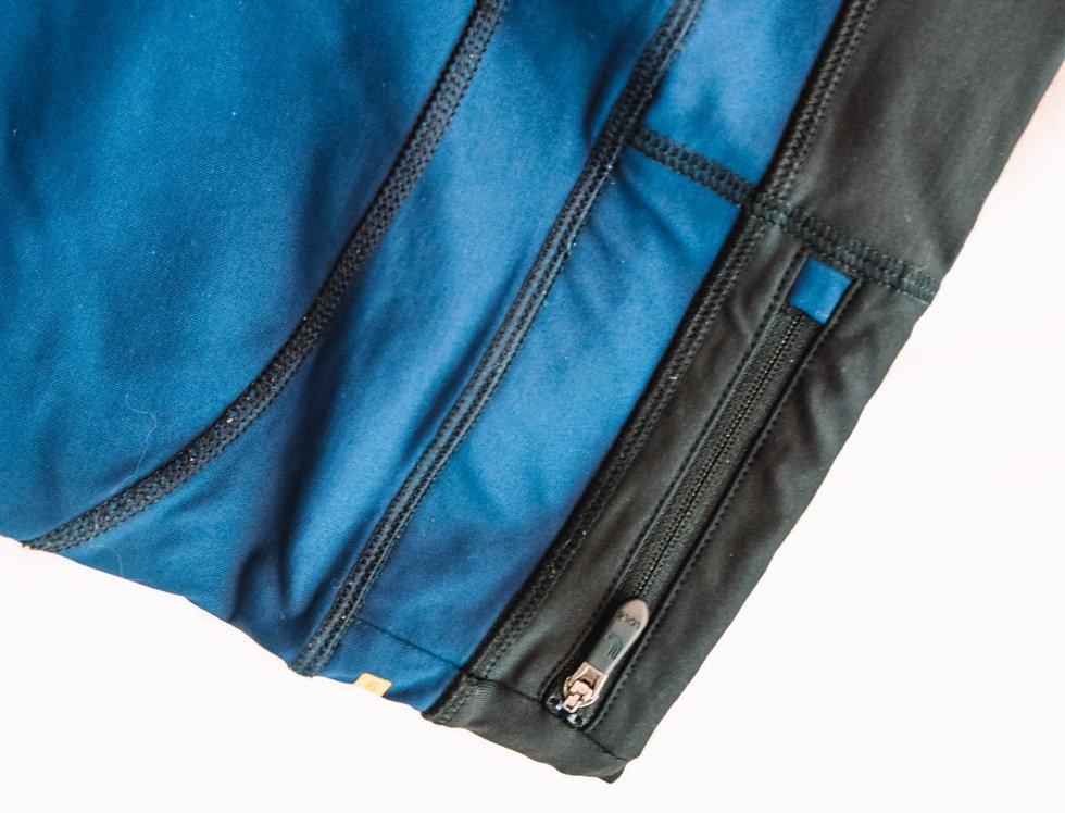 Pocket blue/black leggings