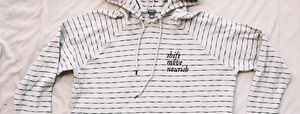 Striped lightweight hoodie