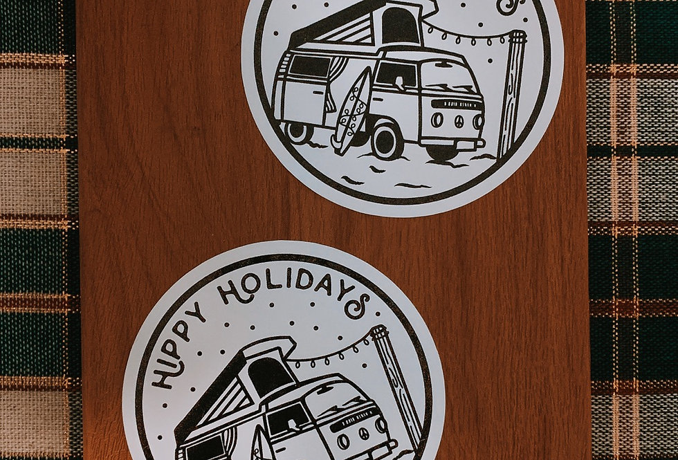 Hippy Holidays Decal 2 Pack
