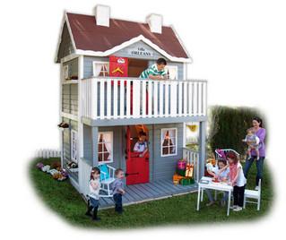 Villaggi per bambini con le casette di legno