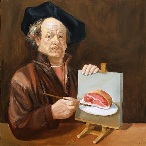 Rembrandts Ölschinken (Leinwand)