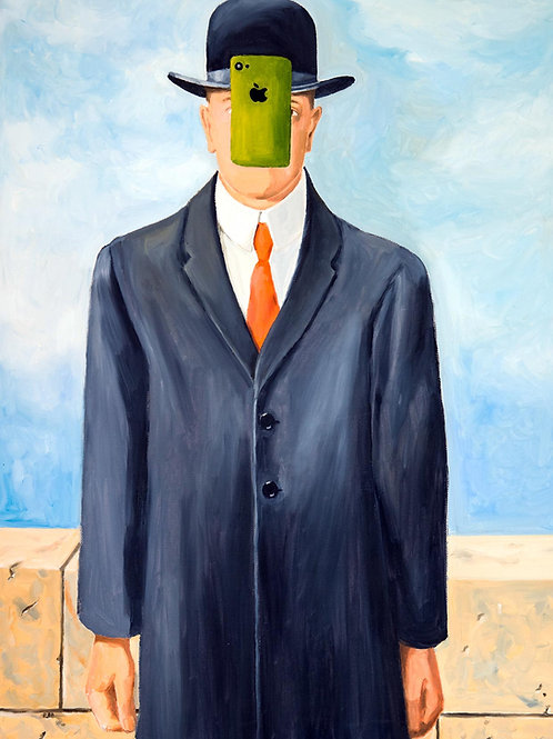 Magritte Updated (Leinwand)
