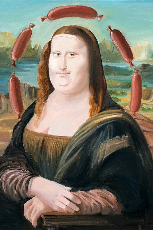 Mona Lisa Westfälische Art (Leinwand)