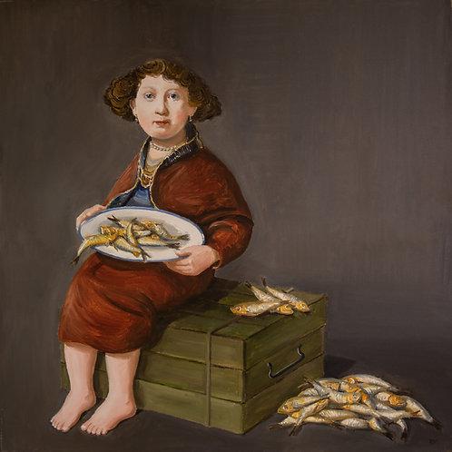 Rembrandts Mädchen aus Rotterdam (Leinwand)