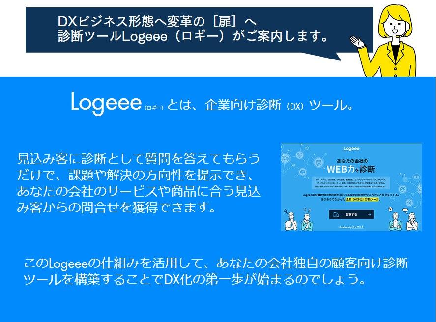 販売促進や集客のための診断システムで企業のDX化をもっと簡単にするLogeee(ロギー)