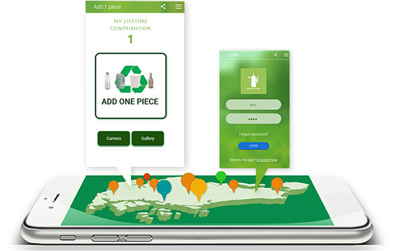 Environmentally friendly app encouraging users worldwide to clean the planet one piece a day