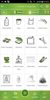 Environmentally friendly app encouraging users to refuse single-use plastics