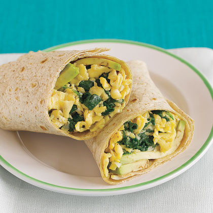 Egg Spinach Burritos