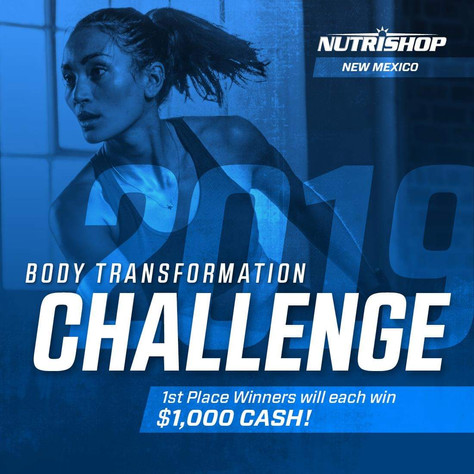 NutriShop's Body Transformation Challenge (Win $1,000 CASH