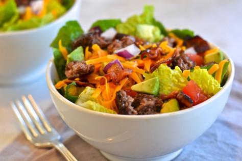 Cheese Burger Chop Salad