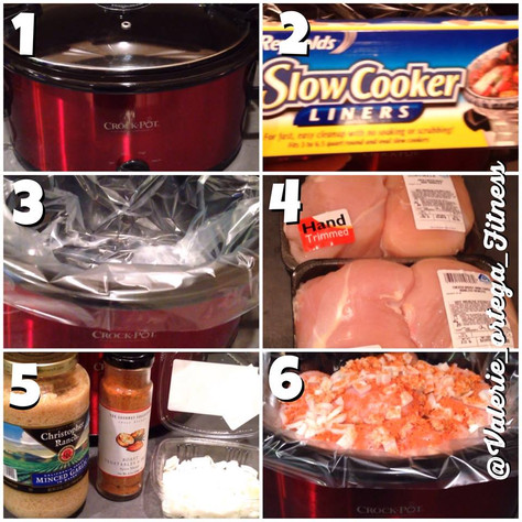 Delicious crockpot chicken under 15 minutes in 6 easy steps!