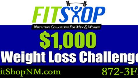 $1000 Dollar Weight Loss Challenge. 1 week left to register!