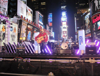 Live Performance in Times Square
