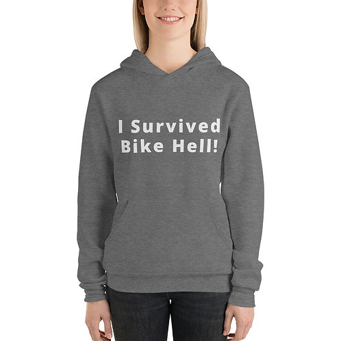 I survived Bike Hell! Unisex hoodie