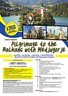 EU - Pilgrimage to the Balkans with Medj