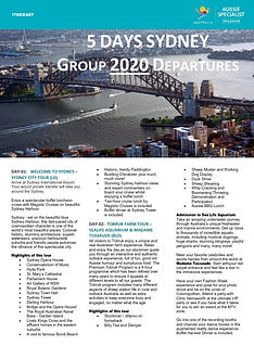 5_Days_Sydney_Highlights_2020_Group_Depa