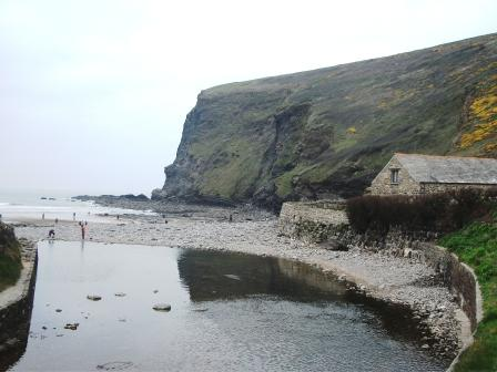 Crackington Haven - the highest cliff in Cornwall