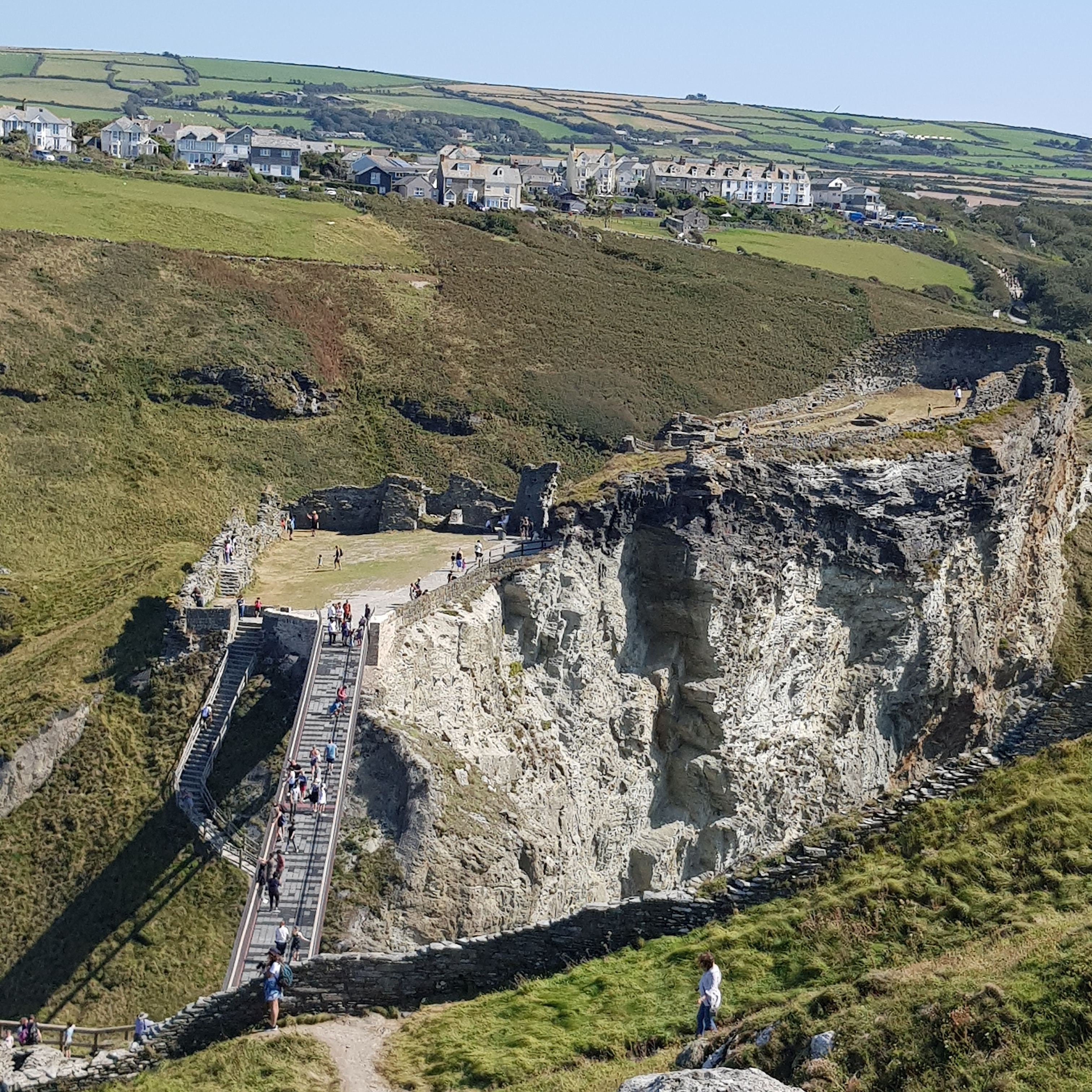 Tintagel Castle View