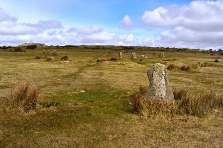 The Hurlers, Bodmin Moor. Good value - 3 stone circles for the price of one