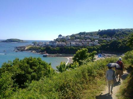 Coming into East Looe from SW Coastal Path