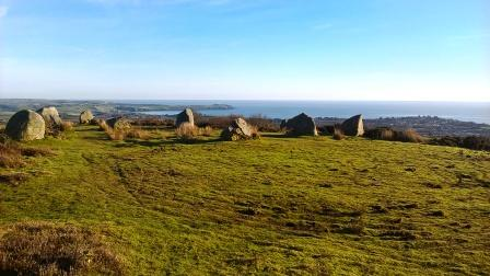 Stone circle above Trethurgy - not marked on OS maps