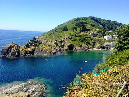 Approach to Polperro Harbour