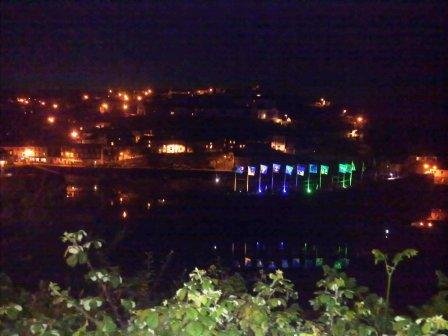 Mevagissey Harbour at night