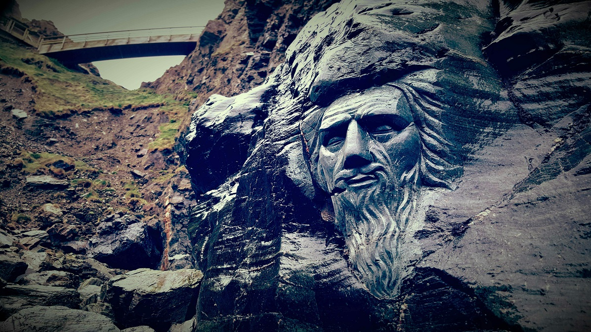 Merlin On The Beach At Tintagel-Castle