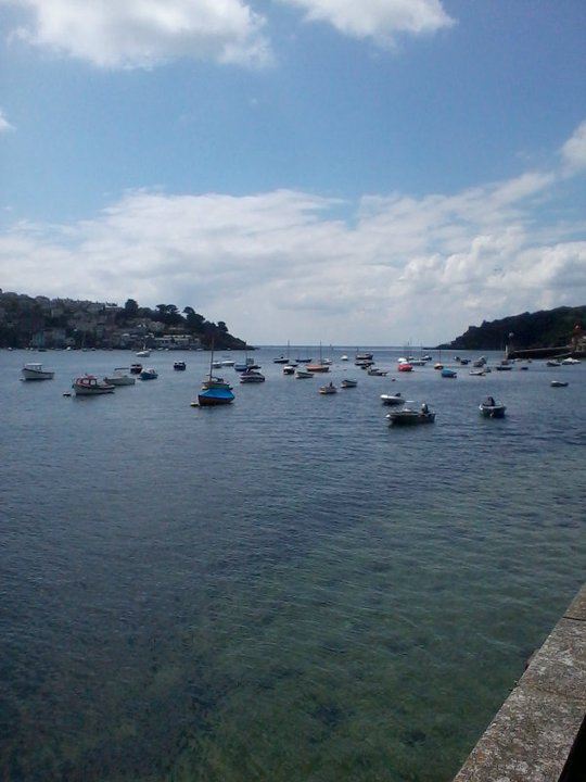 Looking down the river Fowey