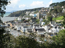 Fowey from The Wall Walk