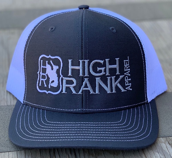 Charcoal gray and white Richardson Ballcap