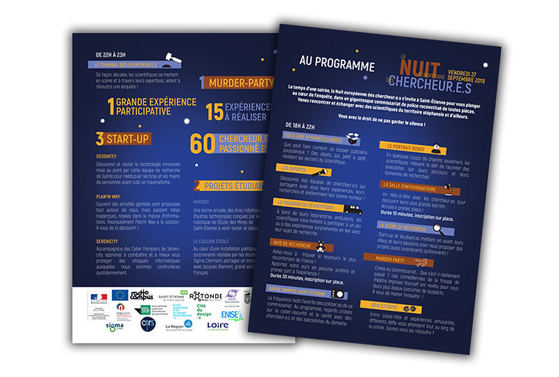 Programme Flyer Graphise Infographste Loire