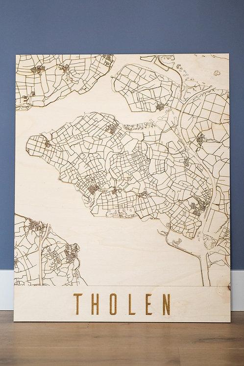 Tholen Citymap Wanddecoratie