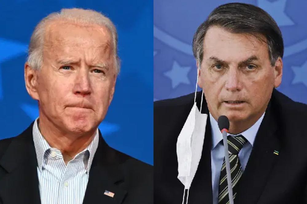 Joe Biden e Jair Bolsonaro - Fotos: Jim Watson e Sergio Lima AFP