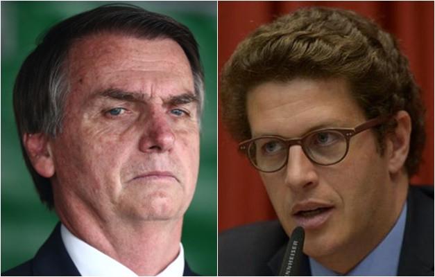 Bolsonaro e Salles: sem vontade política de preservar o meui ambiente e a vida. Foto: Agência Brasil/divulgação