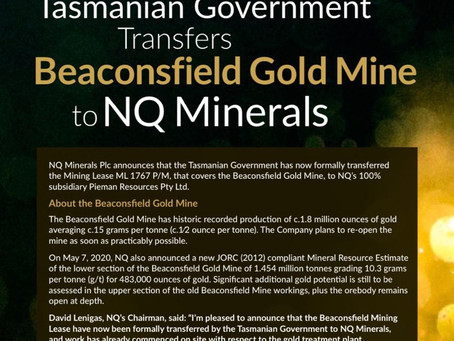Oakmount and Partners Ltd. NQ Minerals Newsletter in July 2020.