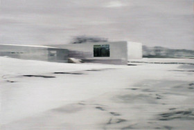 Office in snow