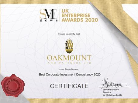 Oakmount and Partners Ltd. SME UK Enterprise Awards.