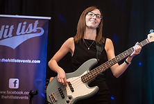 Laura Whiteman playing bass