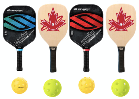 Wooden and Selkirk Prime Epic 4 Paddle Package