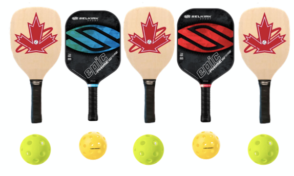 Wooden and Selkirk Prime Epic 5 Paddle Package